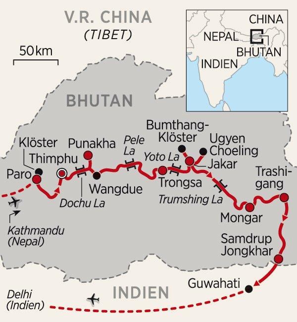 Bhutan_Karte_2016