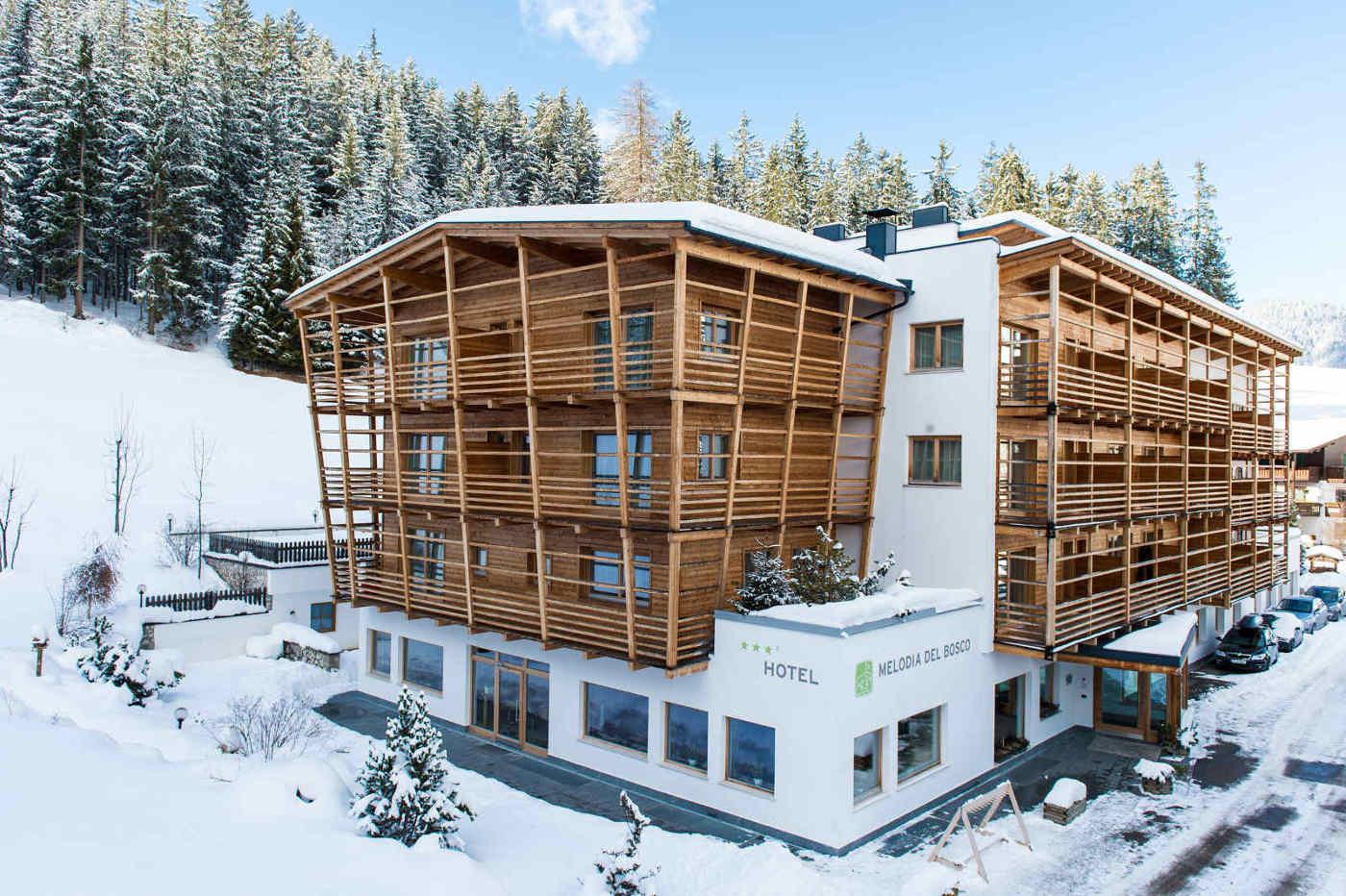 Hotel Melodia del Bosco im Schnee
