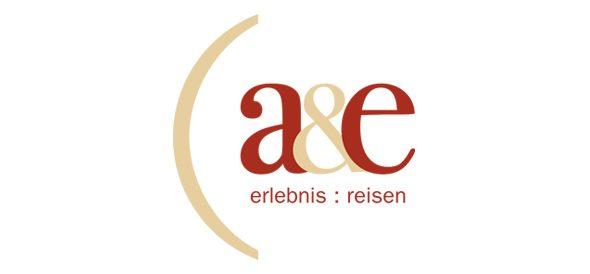 Logo a&e erlebnis:reisen