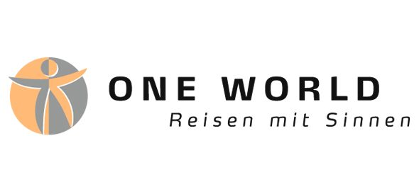 Logo One World - Reisen mit Sinnen