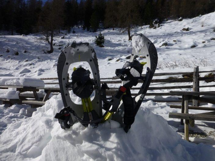 Mit Schneeschuhen hoch hinauf