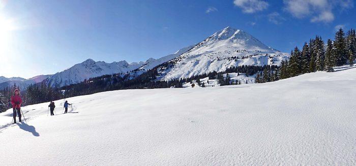Schneeschuhwandern Ultental Südtirol Winterreise