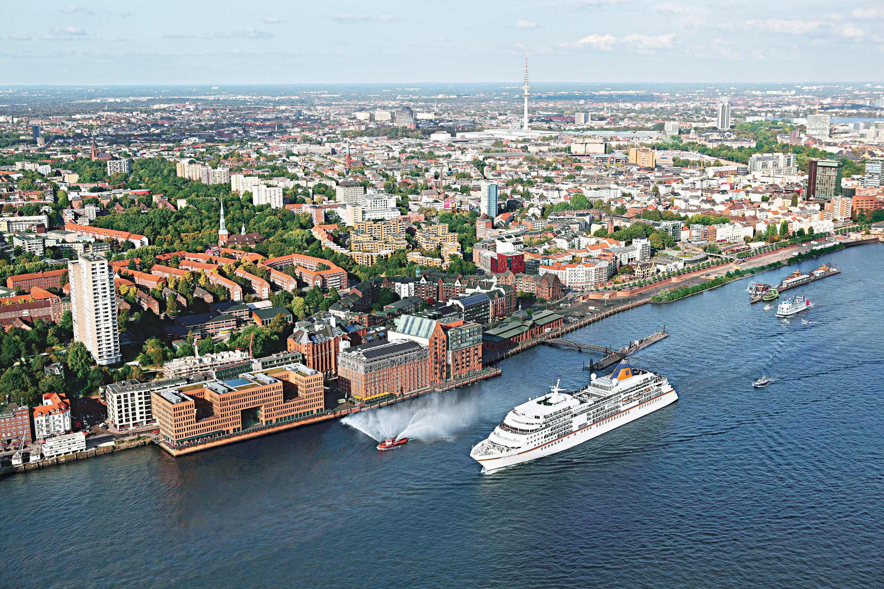 Abfahrt aus Hamburg