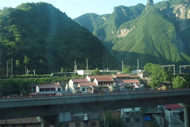 Quer durchs Gebirge auf dem Weg nach Baoji