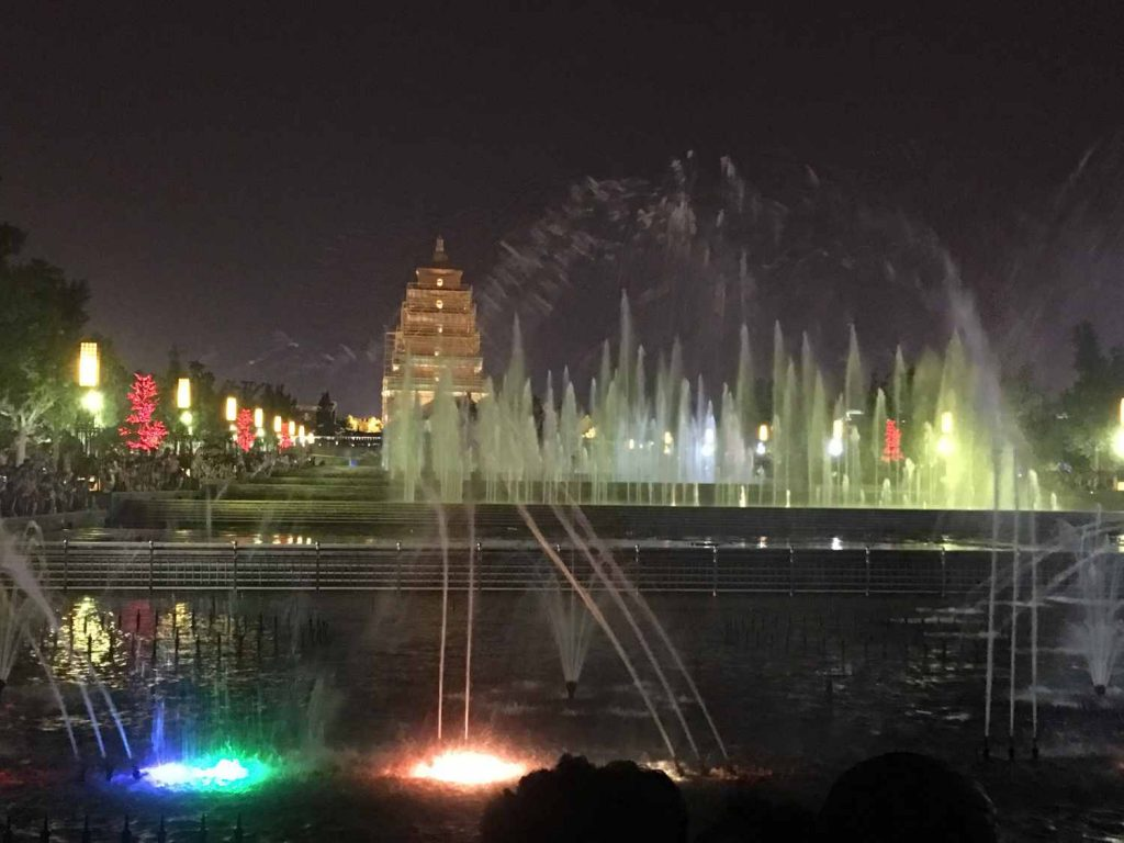 Abendliche Wasserspiele in Xi'an (Thomas Peters )
