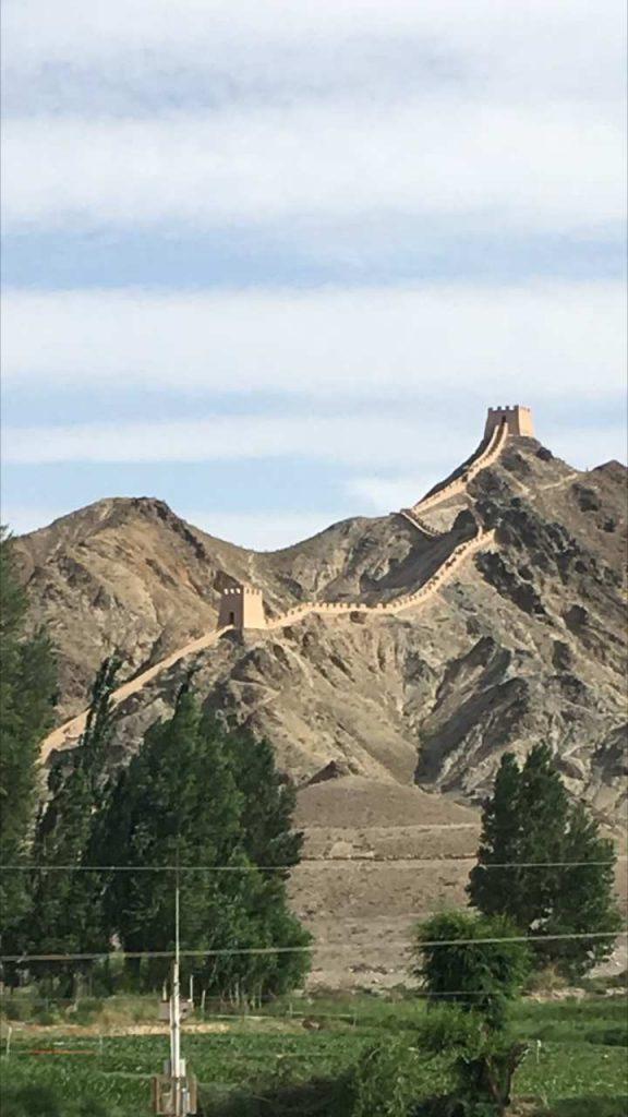Das westliche Ende der großen Mauer in Jiayuguan (Thomas Peters)