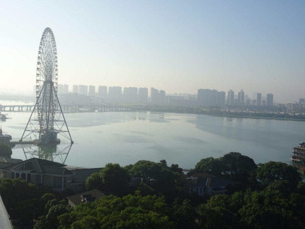Skyline der Stadt Wuxi ( Annette Boeddinghaus)