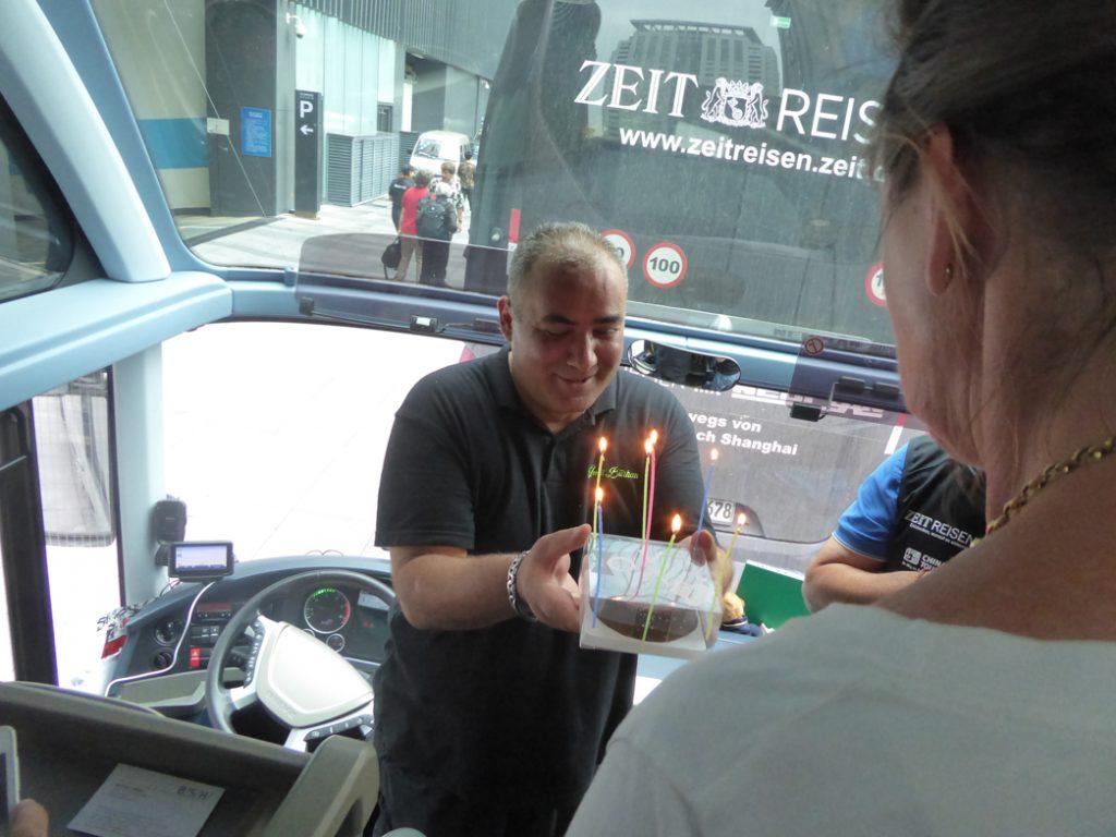 Geburtstagstorte für Ümit Burhan in Nanjing (Dirk Schröder)