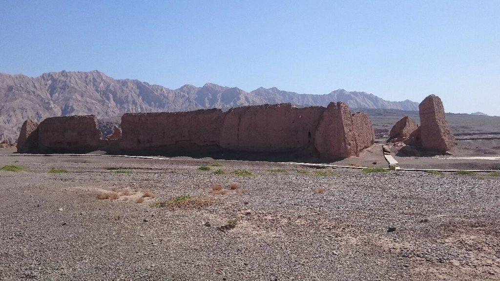 Die Ruinen von der Klosteranlage von Subashi (Adolf Quintus Stracke)