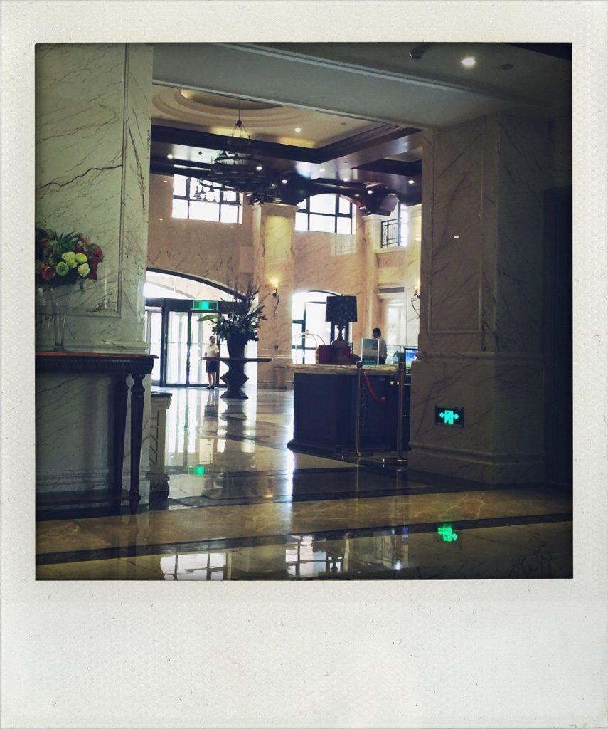 Hoteleingangshalle in Xuchang (Tomas Kaiser)