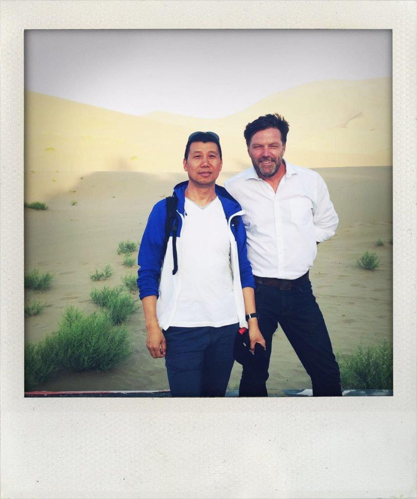 Liu Guosheng (l.) und Tomas Kaiser(r.)