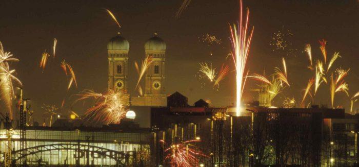 Feuerwerk in München zu Silvester