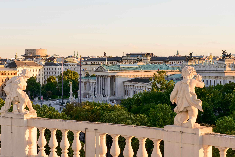 Blick aufs Wiener Parlament