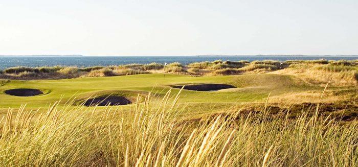 Golfplatz hinter den Dünen von Sylt