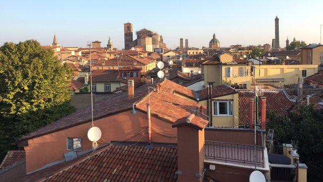 Blick von der Dachterrasse Hotel Touring