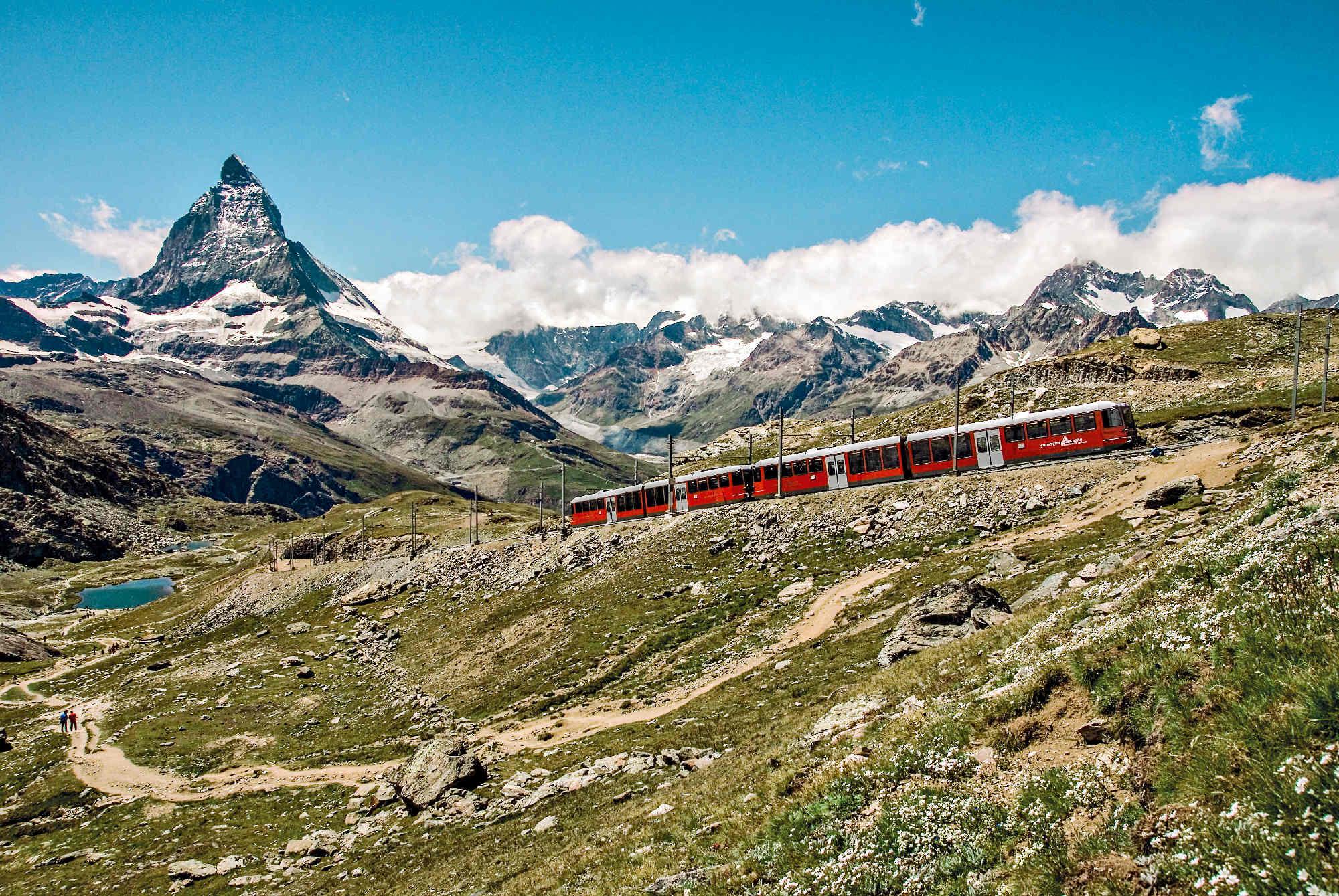 Schweiz, Gornergratbahn, Zermatt