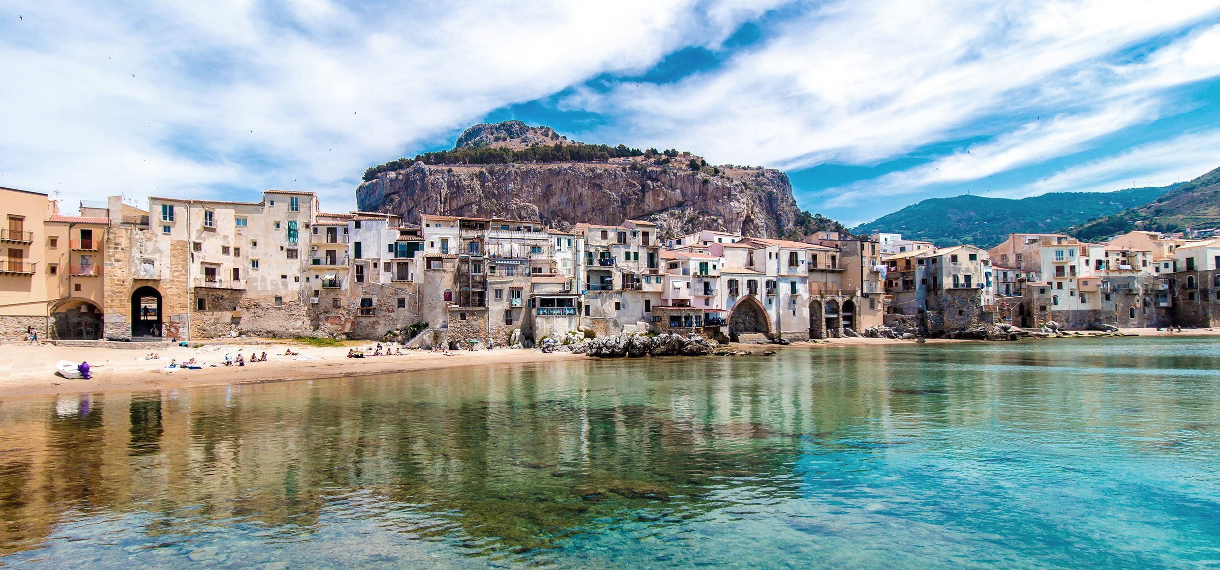 Beautiful view of cefalu, Sicily