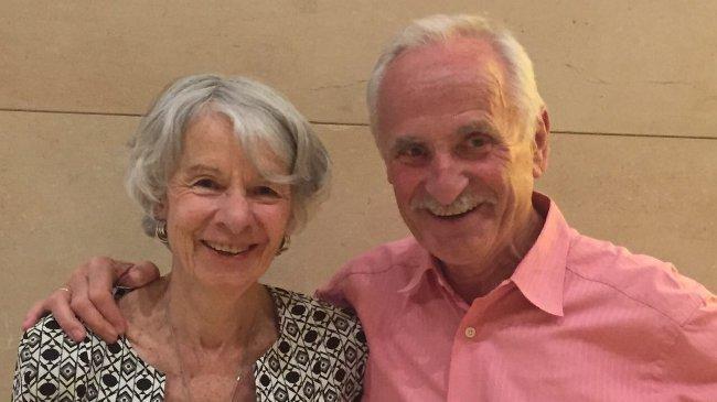 Autor und Geburtstagskind Wolf-Dieter hauenschild und Frau Maren (Bernd Loppow)