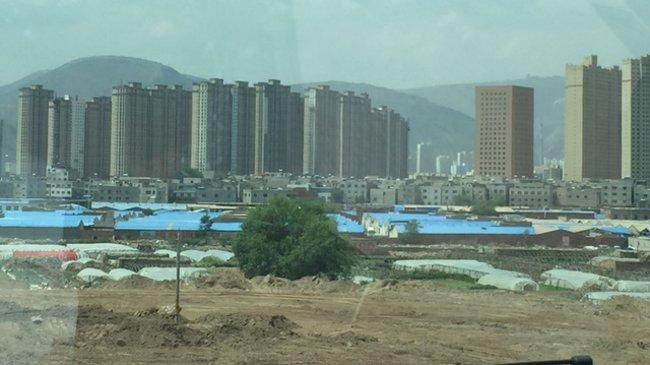 Neue Wohnsiedlungen in Lanzhou
