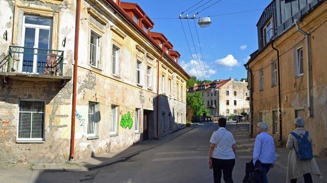 Manche Straßen in Vilnius erinnerten an alte Zeiten