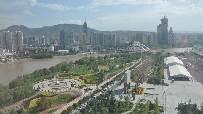 Lanzhou, der Gelbe Fluss