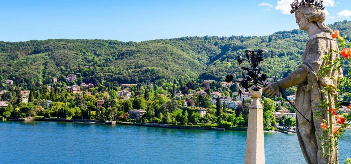 Isola Bella is located in the middle of Lake Maggiore you can get with liners or