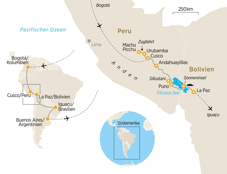 Peru Karte Südamerika.Panorama Südamerika Erkunden Sie Bolivien Peru Argentinien Und