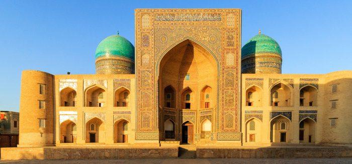 Miri-Arab Madrasah, Poi Kalyan complex in Bukhara, Uzbekistan.