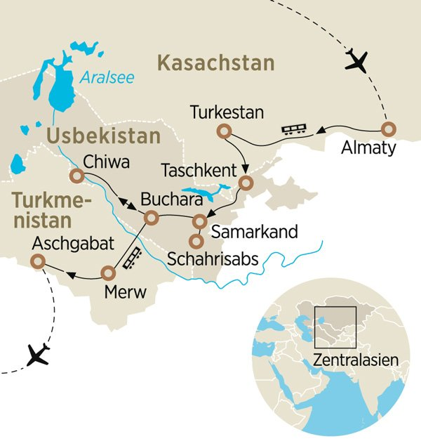 Im »Orient Silk Road Express« auf der Seidenstraße | ZEIT REISEN
