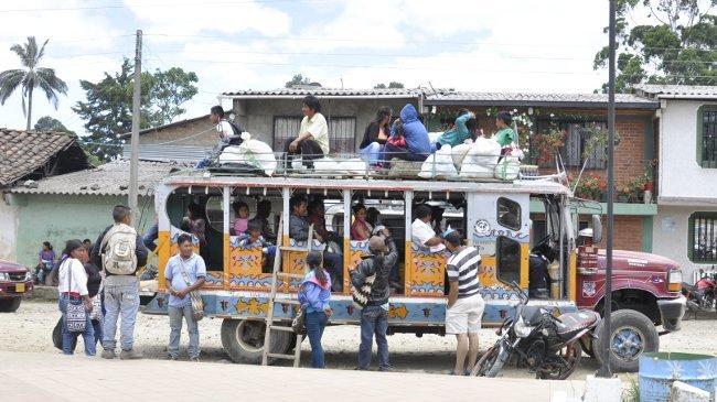 Besucher des Marktes von Popayán