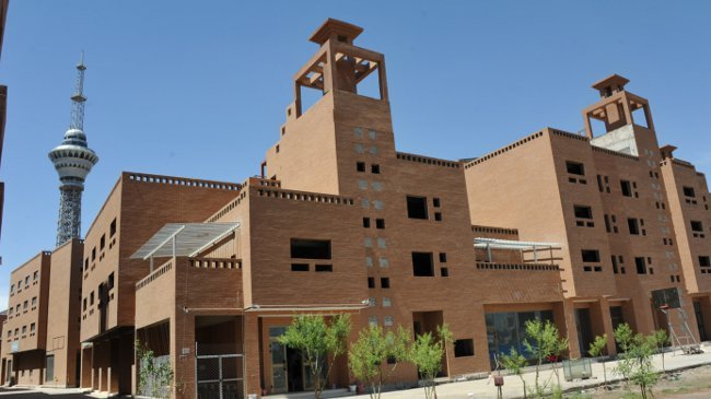 Neubaugebiet in der Innenstadt von Kashgar