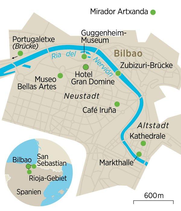 Karte Bilbao