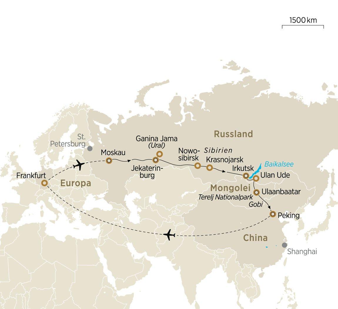 Uralgebirge Karte.Von Moskau Nach Peking Abenteuer Transsibirien Express