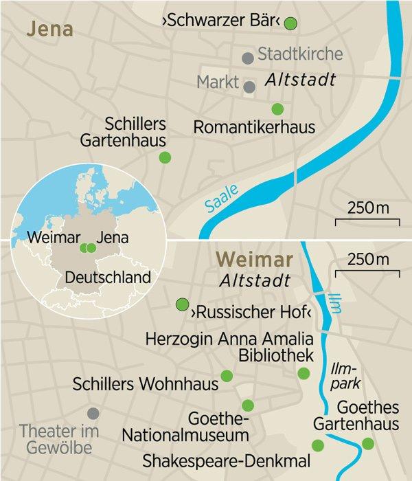 Karte Weimar Und Umgebung.Jena Und Weimar Geburt Einer Kulturnation Zeit Reisen