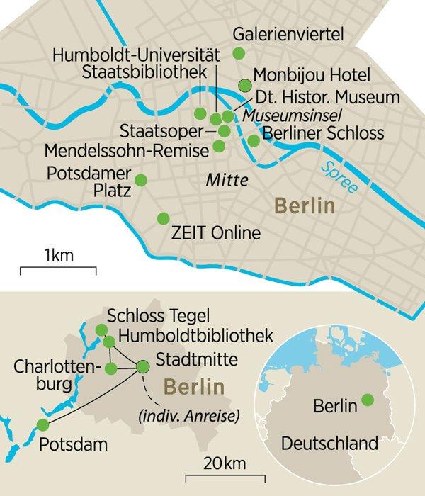 Berlin Potsdam Karte.Berlin Und Potsdam Auf Den Spuren Der Brüder Alexander Und Wilhelm