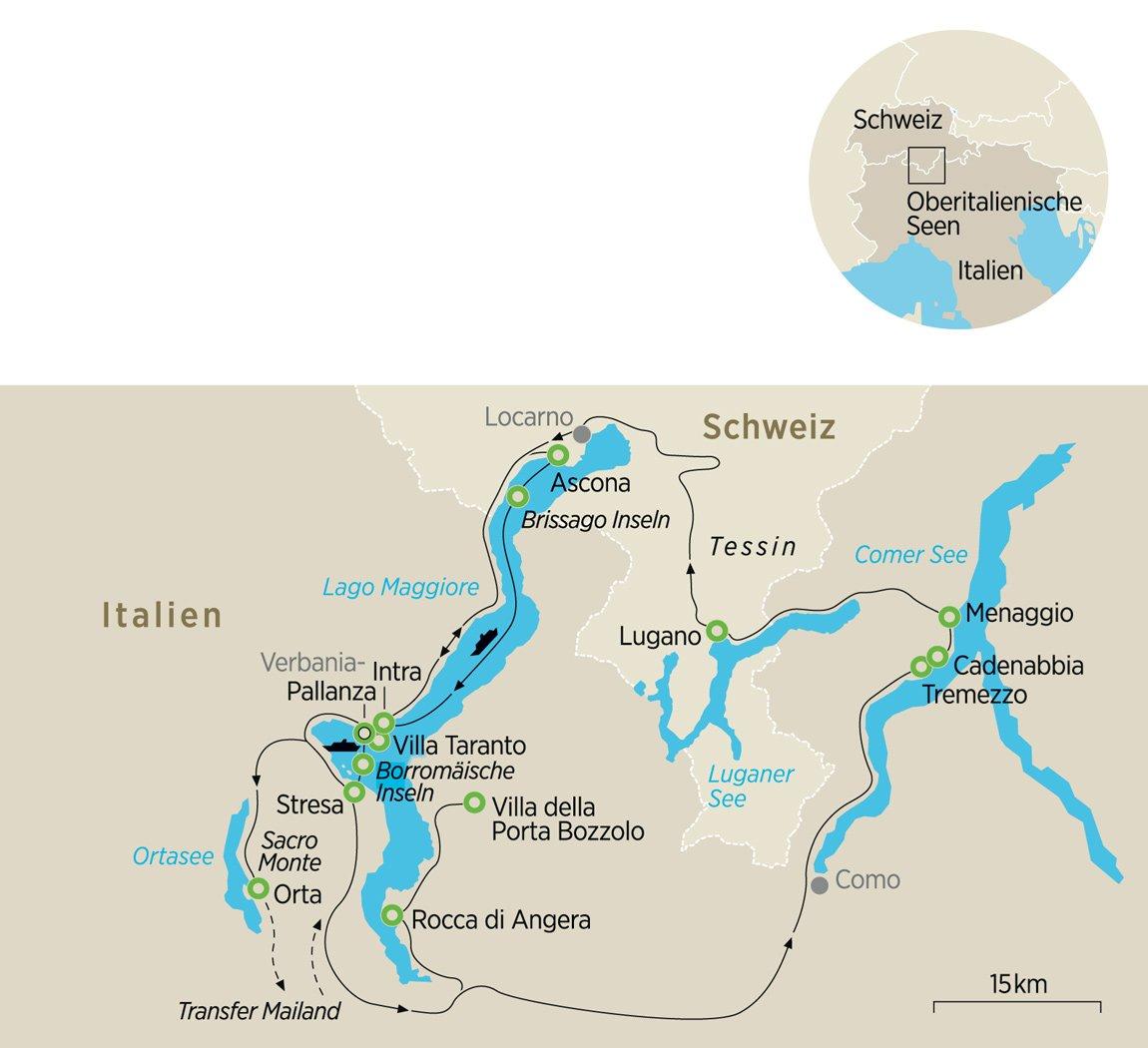 Lago Maggiore Karte.Paradiesgegend Tessin Villen Und Gärten An Den Oberitalienischen Seen